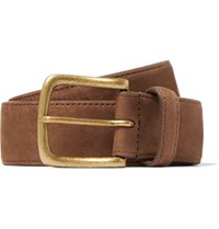 Anderson And Sheppard 3.5Cm Brown Nubuck Belt Light Brown