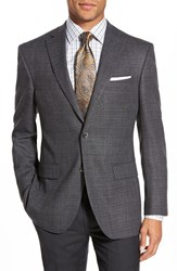 Men's Big And Tall David Donahue 'Conner' Classic Fit Solid Stretch Wool Sport Coat Grey