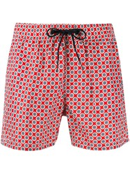 Rrd Helm Pattern Shorts Red