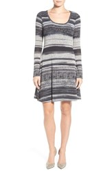 Women's Matty M Long Sleeve Knit Fit And Flare Dress