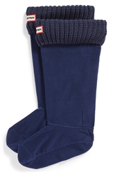 Hunter Cardigan Knit Cuff Welly Socks Bright Navy