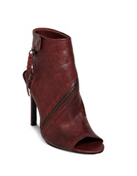 Dolce Vita Hal Leather Stiletto Heel Boots Red