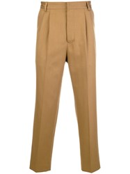 Mauro Grifoni Cropped Tailored Trousers Brown