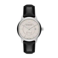 Men's 40Mm Classic Round Watch With Leather Strap