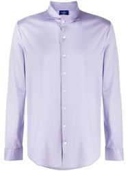 Barba Plain Classic Shirt Purple