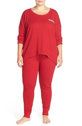 Lucky Brand Thermal Pajamas Plus Size Blazer Red