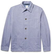 Paul Smith Cotton Oxford Shirt Jacket Blue