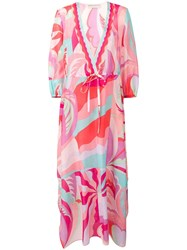 Emilio Pucci Abstract Print Beach Dress Pink