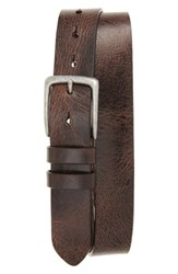 Torino Belts Men's Big And Tall Antiqued Polished Harness Leather Belt Brown