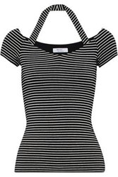 Bailey 44 Kiss And Tell Striped Stretch Jersey T Shirt Black