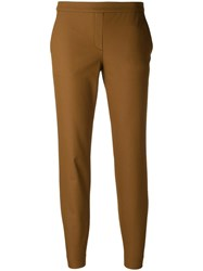 Theory Skinny Cropped Trousers Brown