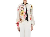 Lanvin Women's Silk Long Sleeve Tieneck Blouse No Color