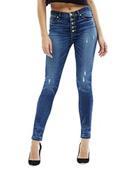 Hudson Jeans Ciara High Rise Button Fly Skinny