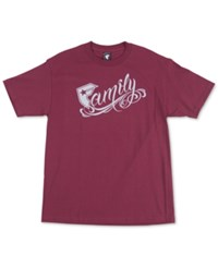 Famous Stars And Straps Famous Stars And Straps New Family Men's T Shirt Burgundy