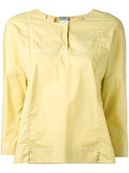 Kristensen Du Nord Henley Blouse Yellow Orange