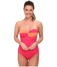 Lole Uvita One Piece Rhubarb Women's Swimsuits One Piece Red