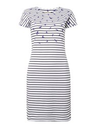 Barbour Exclusive Clovely Striped T Shirt Dress White