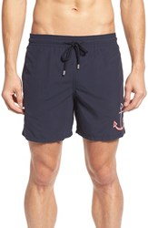 Vilebrequin Men's Embroidered Anchor Swim Trunks