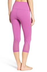 Zella Women's 'Hatha' High Waist Crop Leggings Purple Striking