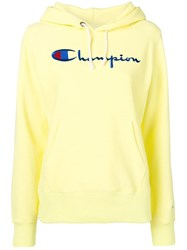 Champion Embroidered Logo Hoodie Yellow