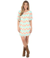 Rock And Roll Cowgirl Flared Sleeve D5 6720 Natural Women's Dress Beige