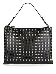 Sondra Roberts Studded Faux Leather Hobo