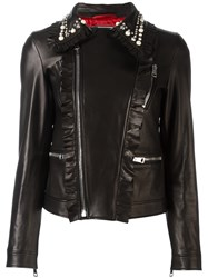 Gucci Studded Leather Biker Jacket Black