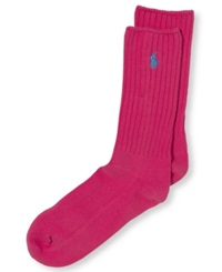 Polo Ralph Lauren Men's Cotton Crew Socks Bright Pink