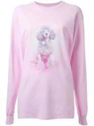 Growing Pains Dog Print Sweatshirt Pink And Purple