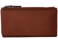 Ecco Jilin Travel Wallet Cognac Wallet Handbags Tan