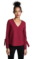 Cooper And Ella V Neck Blouse Wine