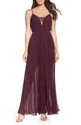 Ali And Jay Women's She Is A Regular Pleated Maxi Dress Wine
