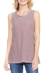 Vince Camuto Women's Two By Charter Mini Stripe Tank Dark Port
