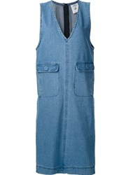 Steve J And Yoni P Sleeveless Denim Dress Blue