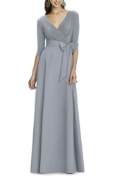 Alfred Sung 'S Jersey Bodice A Line Gown Platinum