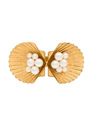 Jennifer Behr Botticelli Shell Hair Clip Gold