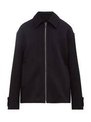 Raey Harrington Wool Jacket Navy