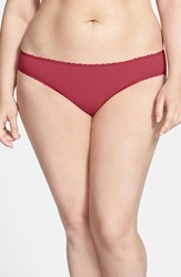 Plus Size Women's Nordstrom Cotton Blend Bikini Burgundy Plum