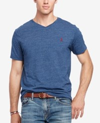 Polo Ralph Lauren Men's Big And Tall Jersey V Neck Blue