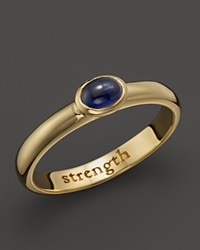 Monica Rich Kosann 18K Yellow Gold Strength Posey Ring With Sapphire Gold Blue
