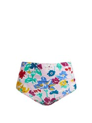 Araks Mallory Liberty Print High Waisted Bikini Briefs Pink Multi