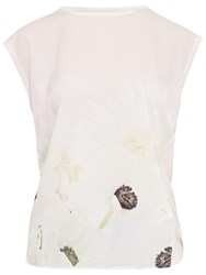 Ted Baker Frema Pearly Petal T Shirt Nude Pink