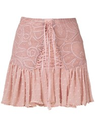 Martha Medeiros Thamires Lace Mini Skirt 60