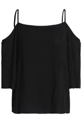 Bailey 44 Cold Shoulder Stretch Modal Top Black