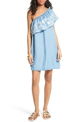 Rebecca Minkoff Women's Rita Chambray One Shoulder Dress