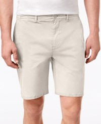 Dkny Men's Sateen Stretch Shorts Silver Birch