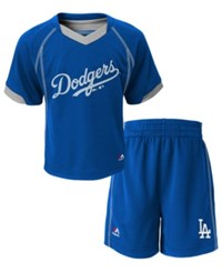 Majestic Babies' Los Angeles Dodgers Shirt And Shorts Set