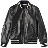 J.W.Anderson Jw Anderson High Shine Leather Ribbed Jacket Black