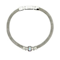 Monet Mesh Vitrail Crystal Collar