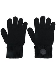 Dsquared2 Ribbed Gloves Men Wool One Size Black